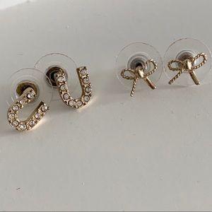 BUNDLE- Gold Stud Earrings.